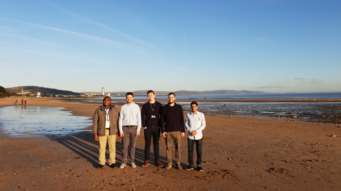 group at Swansea beach